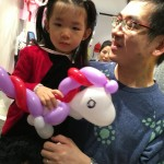 Balloon unicorn sculpture