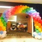 Rainbow & Clouds Balloon Arch