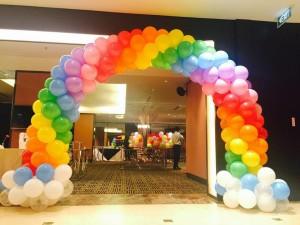 Entrance Colourful Balloon Arch