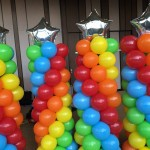 Rainbow and stars for new creation church at expo max atria