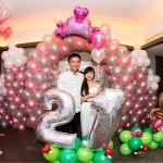 21st Balloon Backdrop