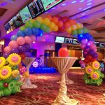 Flowers and Rainbow Balloon Arch 1024x768