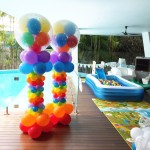 Colourful Balloon Columns