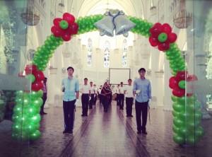 Wedding Flower Balloon Arch
