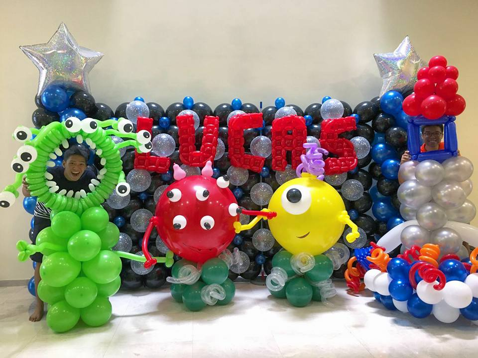 Monster Balloon Backdrop