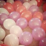 Balloons on floor