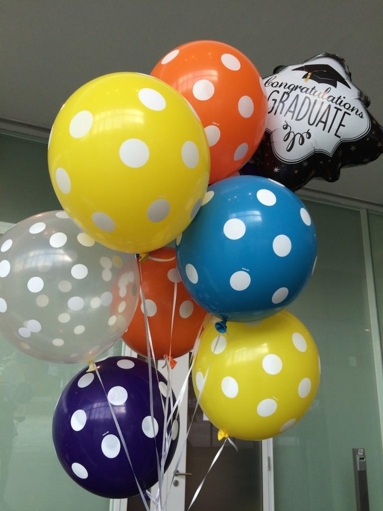 graduation helium balloons