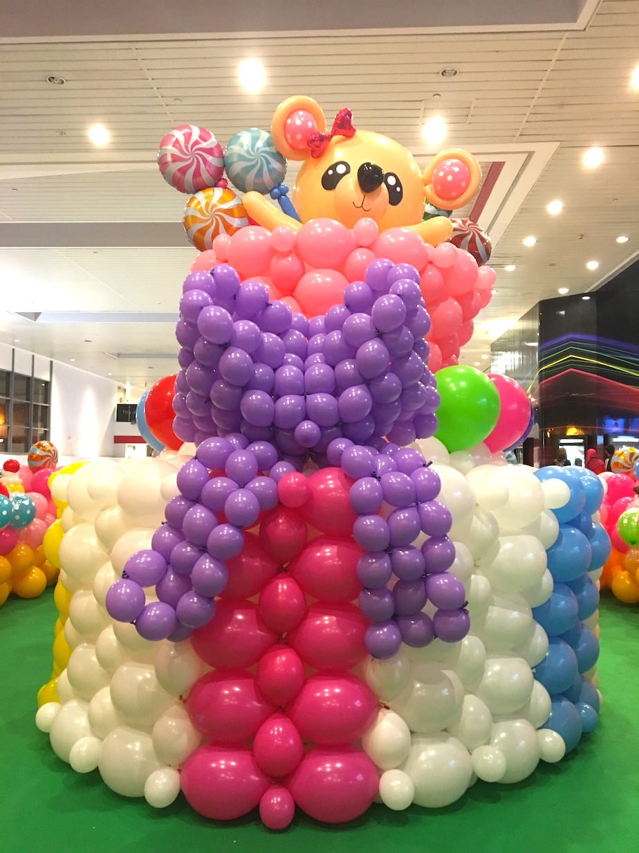 Balloon Birthday Cake Sculpture