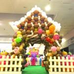 Balloon Candy House Sculpture