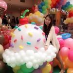 Balloon Ice Cream Cup Sculpture