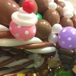 Balloon Ice cream and cupcake