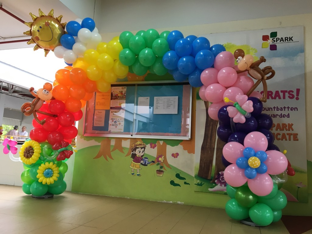 Cheap Balloon Rainbow Arch