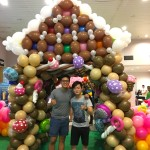 Large Balloon House Sculpture