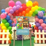 Rainbow Balloon Rectangle Arch