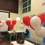 Red and White Balloon Helium