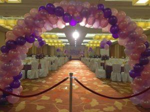 Spiral Wedding Balloon Arch
