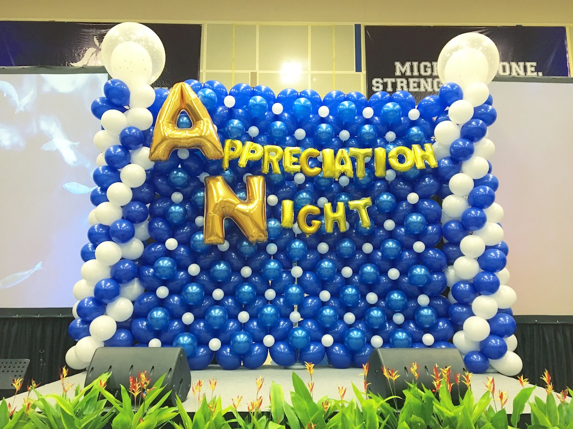 Stage backdrop singapore that balloons for Balloon decoration for stage