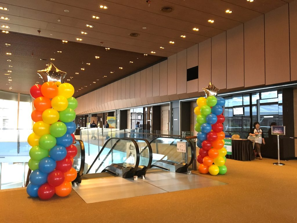 Balloon Pillars for event Singapore