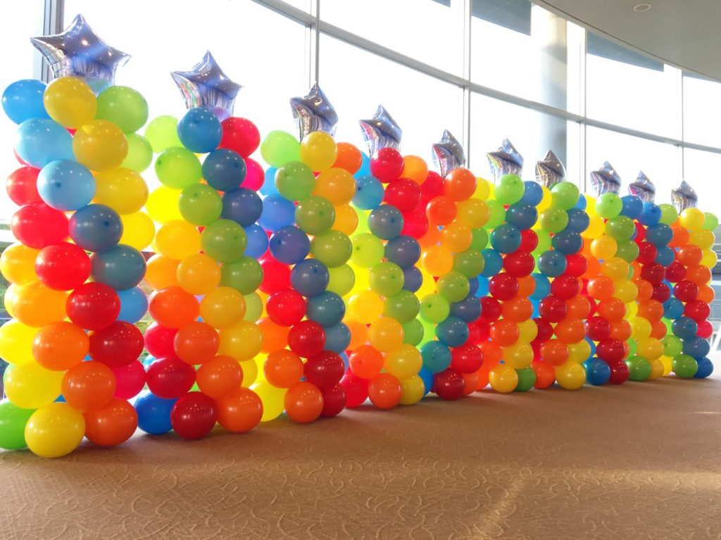 Star Rainbow Balloon Pillars Singapore