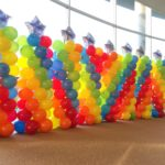 Star Rainbow Balloon Pillars Singapore