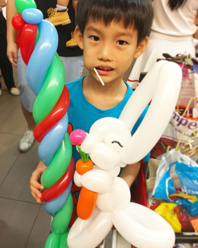 Balloon Sword and Rabbit Sculptures
