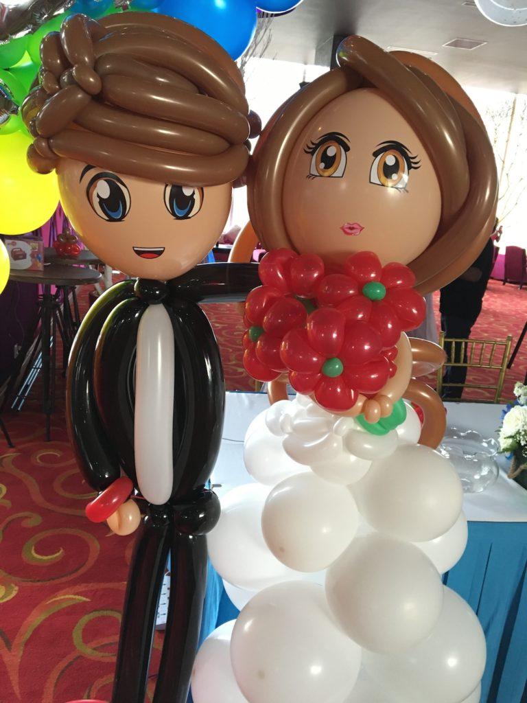Wedding Couple Balloon Sculpture Singapore