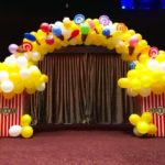 Balloon Popcorn and Candy Arch