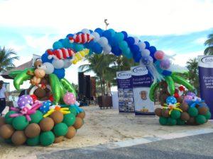 Beach Theme Balloon Arch Singapore