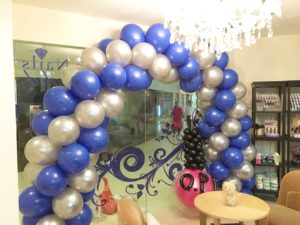 Bejeweled Balloon Arch Retail Shop