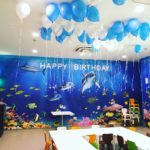 Blue and White Helium Balloons Singapore
