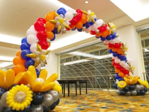 Customised Balloon Arch at MBS