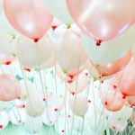 Pink and White Helium Balloons for sale