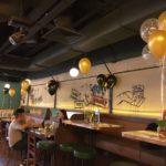 Gold Black Helium Balloons