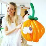 Balloon Pumpkin Sculpture