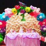 flower-theme-balloon-arch