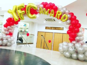 Spiral Balloon Arch with wordings