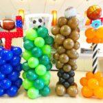 Sports Theme Balloon Columns