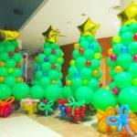 Balloon Christmas Tree with presents