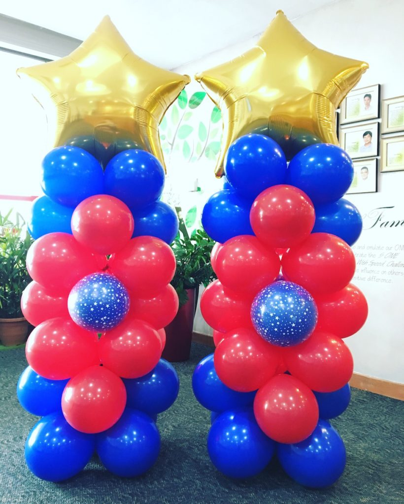 Singapore helium balloons delivery that balloons for Balloon column decoration