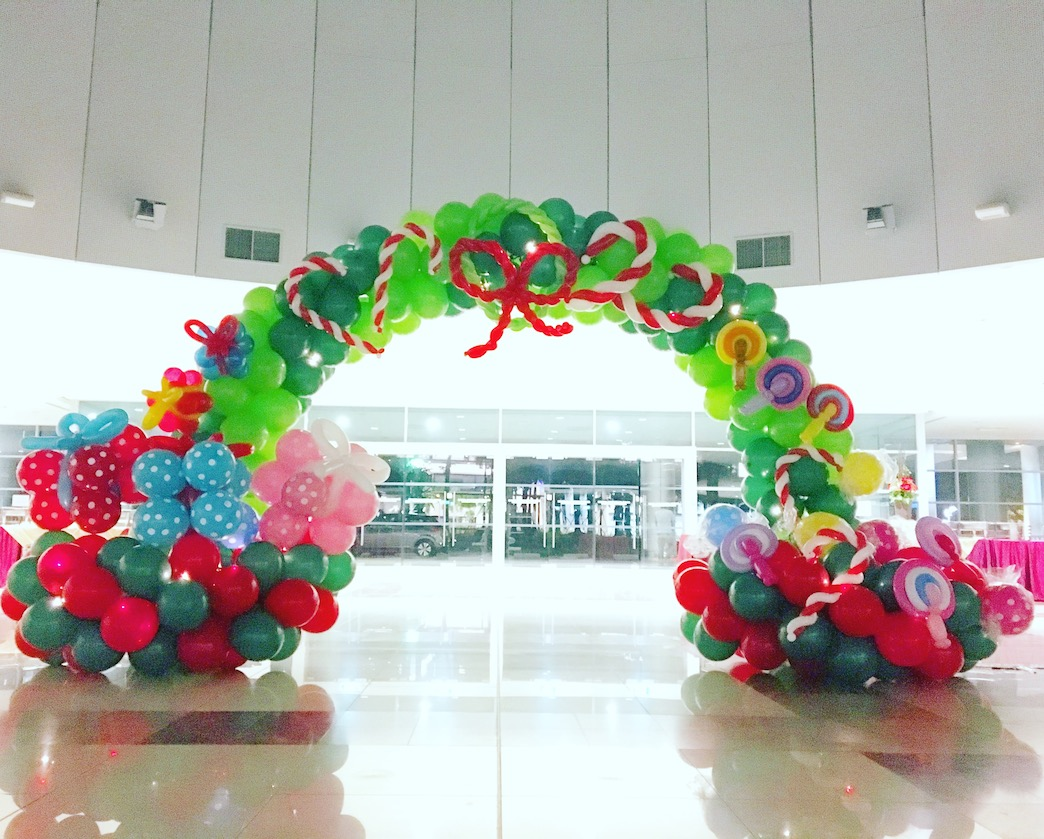 christmas arch balloon decoration