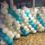 Christmas Balloon Pillars