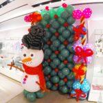 Christmas Theme Balloon Backdrop