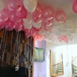 Helium Balloons on Ceiling
