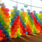 Star Balloon Columns at Expo