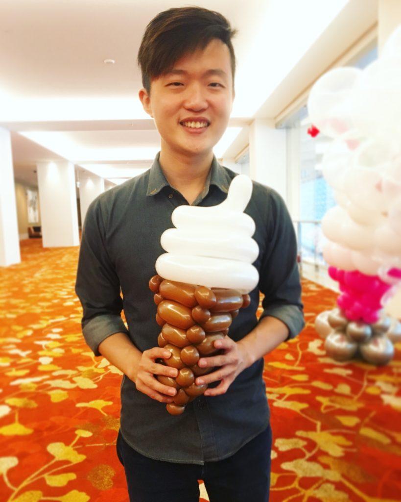 Balloon Ice Cream Sculpture
