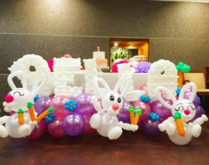 Balloon Name Letter Display Sculpture