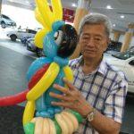 Balloon Parrot Sculpture Singapore
