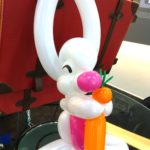 Balloon Rabbit Holding Carrot