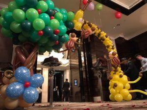 Balloon Tree Giraffe Monkey