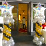 Big Star Balloon Pillars